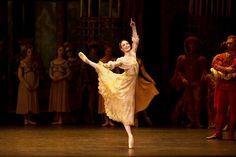 Royal Ballet principle Lauren Cuthbertson as Juliet in Sir Kenneth Macmillian's ballet 'Romeo and Juliet'