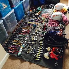 Gear collection of @reu1reuben #climbing #rockclimbing #climbinggear #tradisrad…