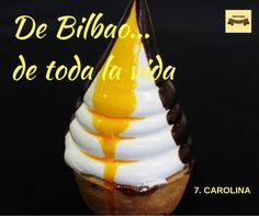 Y con el 7, la Carolina. Montada sobre una tartaleta rellena de crema y coronada por su característico merengue con yema y chocolate, su origen se remonta a hace más de un siglo, cuando un pastelero bilbaíno ideó este pastel para dedicárselo a su hija el día de su cumpleaños. ¿Adivináis cómo se llamaba la niña? ¡Premio! De-li-cio-sa. #pasteles #debilbaodetodalavida #Urrestarazu #ventaonline #envioadomicilio #pasteleria #Bilbao #carolina
