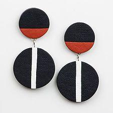 """Vera Earrings by Klara Borbas (Polymer Clay Earrings) (2"""" x 1"""")"""