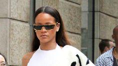 Rihanna Parades Through Prague in a Fashion-Forward Monochromatic Look