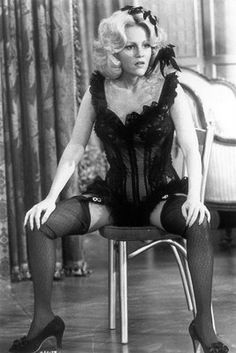 "Madeline Kahn as Lily Von Schtup in ""Blazing Saddles"" She was hilarious! Ask any horse in ""Young Frankenstein""!"