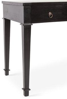 Robyn Curved-Front Desk, Black - Desks - Office - Furniture  One Kings Lane #Desk#Black#Front