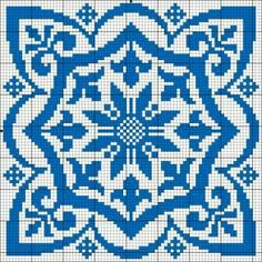 Square motif for cross stitch or filet crochet. < all i see is a great potential for MC pixel art and stuff. Cross Stitch Pillow, Cross Stitch Charts, Cross Stitch Designs, Cross Stitch Patterns, Crochet Cross, Crochet Chart, Filet Crochet, Cross Stitching, Cross Stitch Embroidery