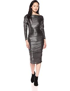 Store this season's most desirable midi dresses at . Dressing up or down, choose a midi gown for each occasion. Draped Dress, Dress Up, High Neck Dress, Office Dresses, Dresses For Work, Knee Length Dresses, Midi Dresses, Rachel Rachel, Long Sleeve Midi Dress