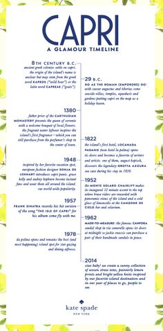 #travelcolorfully a glamour timeline from capri