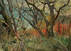 Trees in the Landscape, oil on canvas