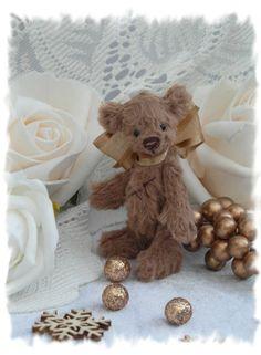 Pudding. teeny tiny art bear. by forrestfairy on Etsy