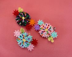 イメージ 1 Kanzashi Flowers, Yahoo, Pretty, Image, Beautiful, Fabric Flowers