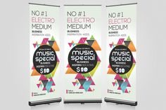 Music Party Night Roll Up Banner Templates Smart,Clear and Clean Creative business roll up banners template can used for all purpose Corporate by Business Flyers Poster Presentation Template, Best Presentation Templates, Project Presentation, Banners Music, Rollup Banner, Print Templates, Design Templates, Psd Templates, Music Party