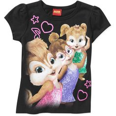 Girls' Chipettes Graphic Tee  $6.97