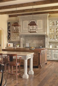 beautiful and functional Mediterranean kitchen in warm hues