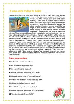 I was only trying to hep! - English ESL Worksheets for distance learning and physical classrooms English Teaching Materials, Teaching English Grammar, English Writing Skills, English Reading, 4th Grade Reading Worksheets, Reading Comprehension Activities, Teaching Reading, Comprehension Strategies, Pasado Simple