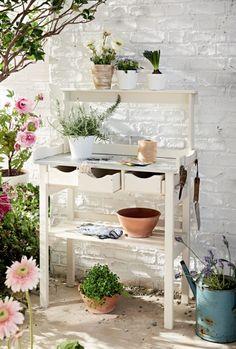Pflanztisch Holz, Garten Möbel, Gartenschrank Weiss, Pflanztisch,  Gartenschrank Holz, Geräteschrank Holz