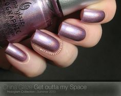 China Glaze Hologlam Get outta my Space
