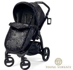 Kinderwagen Versace compl.met tas zwart