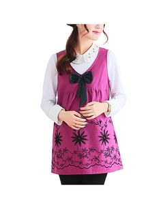 Anti-Radiation Maternity Clothes Top Baby Mom Protection Shield Dresses Bowknot Purple L - Yesfashion.com in Free Shipping
