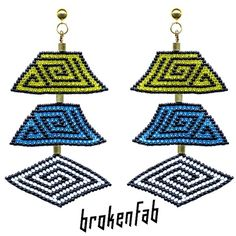 #brokenfab #earrings #mosaikpop collection available next week