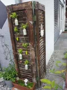 Alte Fensterläden können Sie oft kostenlos abholen! Geben Sie ihnen eine schöne Farbe und machen Sie dann DAS damit! - DIY Bastelideen