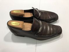 Mens Size 7.5 Salvatore Ferragamo Dress Shoes Brown Leather  | eBay Brown Dress Shoes, Salvatore Ferragamo, Men's Shoes, Brown Leather, Loafers, Accessories, Ebay, Dresses, Fashion