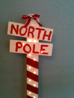 "This might add a little something to a ""Polar Express"" themed party. I already have the ""pole"""