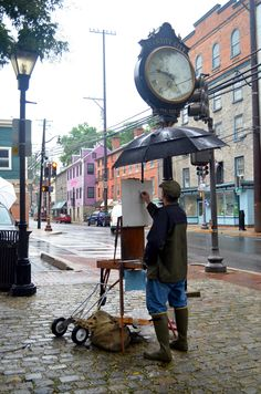 PAINT IT! Plein Air weekend in Historic Ellicott City. It's cool to walk Main Street and see all the artists' paintings.