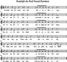 image result for rudolph the red nosed reindeer flute music trumpet sheet music flute sheet - Christmas Songs Rudolph The Red Nosed Reindeer