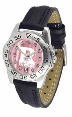 Rutgers University Ladies Leather Pink Sports Watch by SunTime. $64.95. Leather Band-Crystal-Mother Of Pearl Dial. Adjustable Band. Calendar Function With Rotating Bezel. Officially Licensed Rutgers Scarlet Knights Ladies Leather Pink Sports Watch. Women. Rutgers Scarlet Knights ladies leather sports watch. This Scarlet Knights wrist watch with genuine leather band, date calendar function, and rotating bezel/timer that circles the scratch-resistant crystal. The scratch resistant...