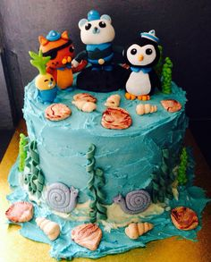 Octonauts buttercream with fondant decorations