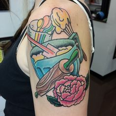Cooking up a storm, mixing, rolling pin, pastels, flower color Andy Howl Tattoo Artist | HOWL Gallery/Tattoo | Ft Myers - Florida