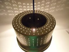 Hängelampen - upsicling  Lamp - Sieb ? oder LAMPE ? - ein Designerstück von MaDuett bei DaWanda