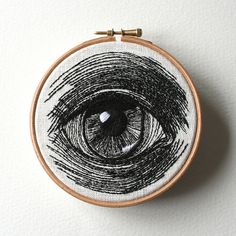 Hand-stitched Eye Artworks by Sam P. Gibson Embroidery Hearts, Embroidery Monogram, Embroidery Fabric, Embroidery Fashion, Hand Embroidery Designs, Embroidery Patterns, Quilt Patterns, Embroidery Stitches, Quilting For Beginners