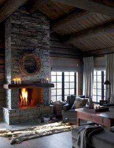 #designmk #design #interior #livingroom #cozy #rusticdecor #exposedbeams #Nordicstyle #GameofThrones #Vikings