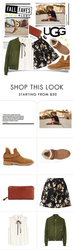 """""""The New Classics With UGG: Contest Entry"""" by anne-symanski-goranson ❤ liked on Polyvore featuring UGG, UGG Australia, Miss Selfridge, Topshop, Kate Spade, ugg, WardrobeStaples, fallstyle and trendreport"""
