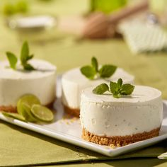 Have your cake-tail and eat it, too with a mini mojito mousse cake. Start with rum, lime and aromatic mint for classic mojito flavor. Now add all that to a cheesecake and your concept of mojitos will never be the same! Feel confident serving this cake to any mixology master. A cocktail and cake in one, who can resist?
