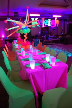 Neon Light Party Ideas | The event that led us to win a WOW! Award: Kaleigh's Bat Mitzvah.