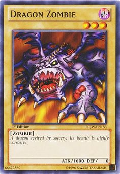 Amazon.com: Yu-Gi-Oh! - Dragon Zombie (LCJW-EN183) - Legendary Collection 4: Joey's World - 1st Edition - Common: Toys & Games