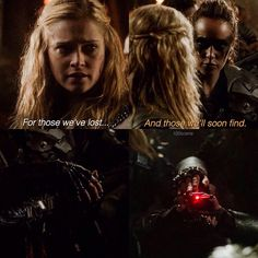 "#The100 2x15 ""Blood Must Have Blood, Part One"" - Clarke and Lexa"