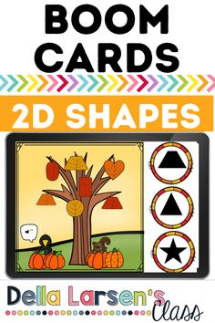 Boom Cards 2D shapes. Have fun with this fall math digital activity. October and November math centers perfect for Zoom meetings and distance learning. A fun way to match 2D shapes this fall. Your kindergarten students have to look closely to find the matching shape in this fall math center. Life Skills Lessons, Teaching Life Skills, Kindergarten Math Activities, Kindergarten Classroom, Interactive Learning, Fun Learning, Google Classroom, Literacy Centers, School Ideas