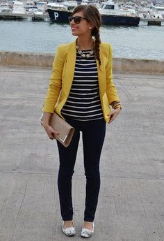 Veste jaune et marinière