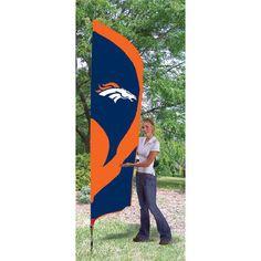 Denver Broncos NFL Applique & Embroidered Tall Team Flag (102x30)