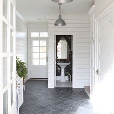 I hadn\'t seen this pic from @studiomcgee prior to my project, but it confirms that we are going in a very good direction! Shiplap walls + herringbone floor = . #inspopic #style2inspire #onetofollow