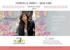 Flowers & Swirls Senior Girls Grad Card