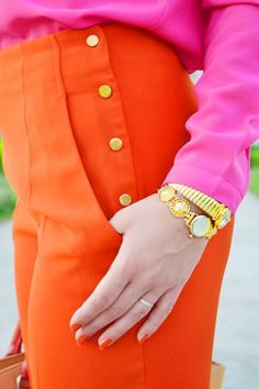 Pink & Orange. How does this even match?