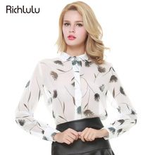 RichLuLu Floral Impresso Mulheres Chic Chiffon Blusas Turn Down Collar Único Breasted Tops Sexy Doce Casuais Solta Sheer Camisa(China (Mainland))
