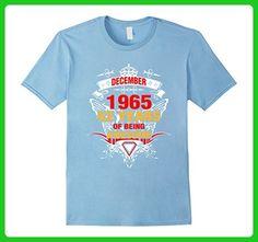 Mens December 1965 52th Birthday 52 Years Old Gift T-Shirt Medium Baby Blue - Birthday shirts (*Amazon Partner-Link)