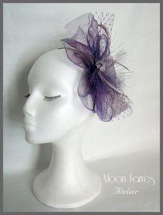 Kentuky Derby Hat / Fascinator hat / Purple by MoonFarresAtelier, $65.00