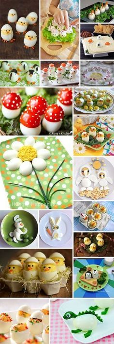 How to serve eggs? Great ideas :)- How to serve eggs? Great ideas 🙂 How to serve eggs? Easter Recipes, Baby Food Recipes, Holiday Recipes, Cute Food, Good Food, Yummy Food, Awesome Food, Food Carving, Food Garnishes