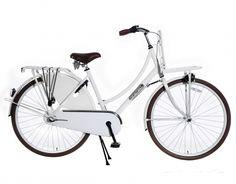 Transportfiets Daily Dutch Wit 28 Inch | bestel gemakkelijk online op Fietsen-verkoop.nl