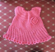 Crochet baby dress, Free pattern here: http://www.redheart.com/free-patterns/little-sweetie-dress-headband thanks so xox